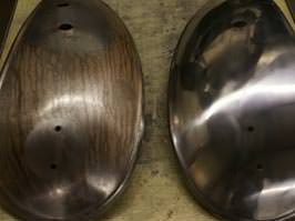 Components before and after polishing